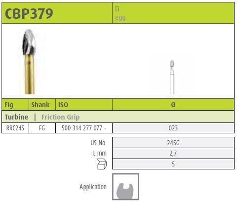 Jota FG Tungsten Carbide Viper Crown Cutter 379/02