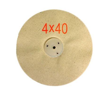 Calico Mop Un-Stitched Leather Centre 4 x 40