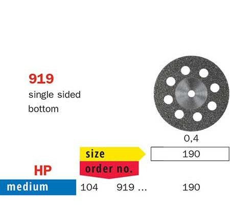 Diaswiss Flexible Single Sided Bottom Disc 919/190