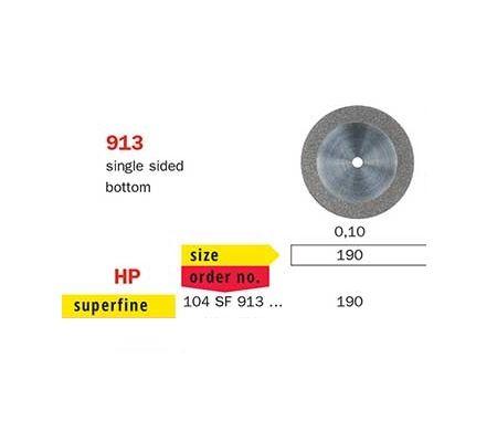 Diaswiss Single Sided Bottom D/Disc 913/190 X-Fine