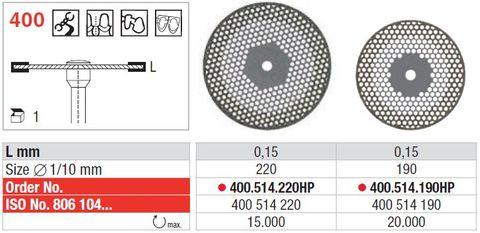 Edenta Open-Meshed Diamond Disc 400/190 Fine