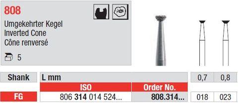 Edenta FG Interted Cone 808/023 Medium