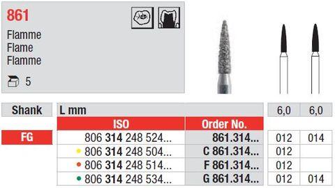 Edenta FG Flame Diamond 861/012 Fine