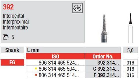 Edenta FG Diamond Interproximal 392/016 Extra Fine