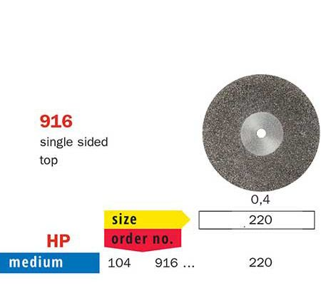 Diaswiss Flexible Single Sided Top Disc 916/220 Me