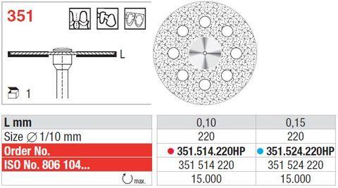 Edenta Superflex Diamond Disc 351