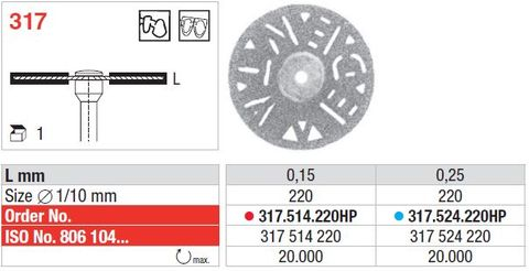 Edenta Superflex Diamond Disc 317