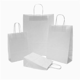 Large Carry Bag White 48x34+11cm Rope Handle