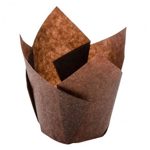 60mm Folded Muffin Mould Brown