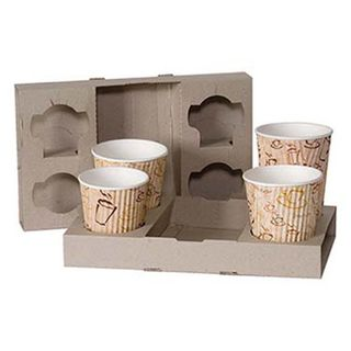 Fold Up 4 Cup Carry Trays