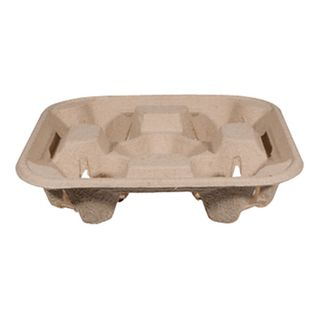 Biodegradable 4 Cell/Cup Carry Trays - B-CC-832