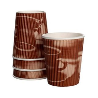 Detpak Classic 8oz Tea & Coffee Ripple Cups