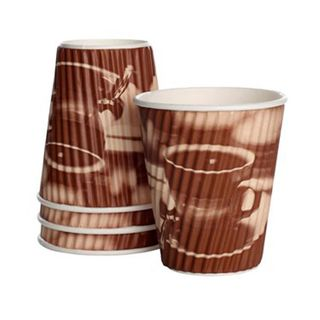 Detpak Classic 12oz Tea & Coffee Ripple Cups