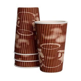 Detpak Classic 16oz Tea & Coffee Ripple Cups