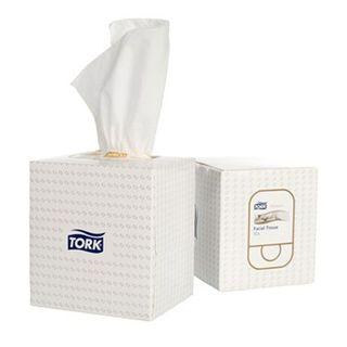 2170301 TORK Premium Facial Cube Tissues 2/Ply 90 Sheet