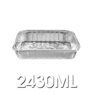 460 - Large Rectangular Foil Container - 2430ml