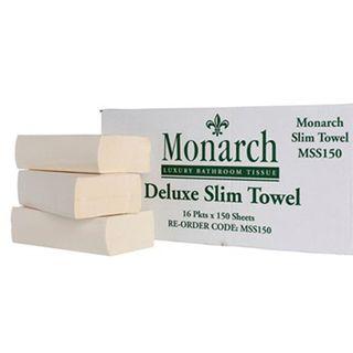 MSS150 Monarch Deluxe Slim Fold Handtowel 24 x 24cm - 150 sheet