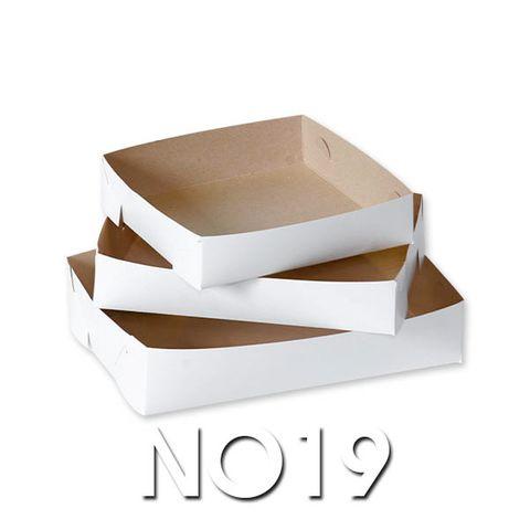 White Cake Trays - No 19 - 125 x 125 - 350um
