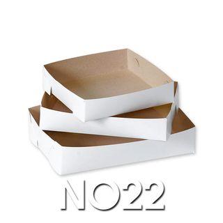 White Cake Trays - No 22 - 175 x 175 - 350um