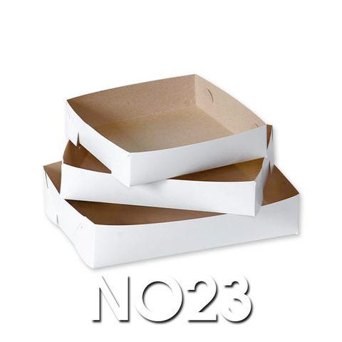 White Cake Trays - No 23 - 230 x 150 - 400um