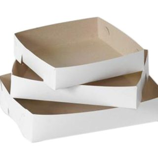 White Cake Trays - No 24 - 250 x 175 - 500um
