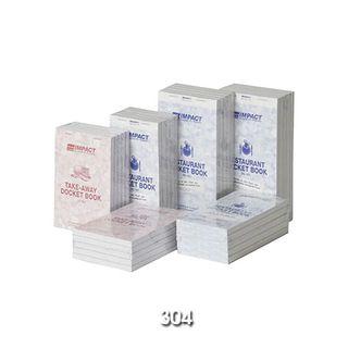 RD304 Impact Triplicate Restaurant Docket Books - 100x195