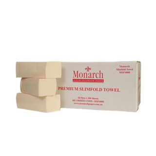 MSF4000 Monarch Premium Slimfold Interleaved Towel - 200 sheet
