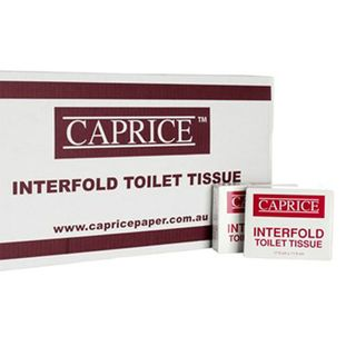 Caprice Interfold Toilet Tissue 100 packets x 150 Sheets - 150CW