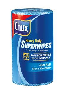 Chux 9305 H/D Perforated Roll Blue - 45mtr