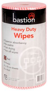 Bastion Red Heavy Duty Wipes - 45m