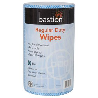 Bastion Blue Regular Duty Wipes - 65m