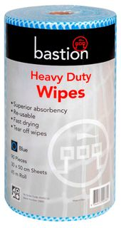Bastion Blue Heavy Duty Wipes - 45m