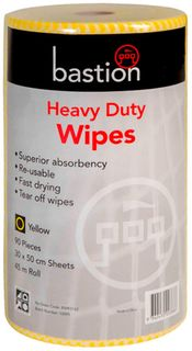 Bastion Yellow  Heavy Duty Wipes - 45m