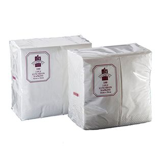 Caprice White 2 Ply 1/8 Fold Luncheon Napkins