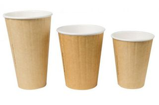 EYC 8oz Kraft Single Wall Coffee Cups