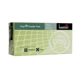 Bastion Clear Vinyl POWDERFREE Gloves - MEDIUM