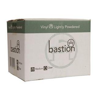 Bastion Clear Vinyl Powdered Gloves - MEDIUM
