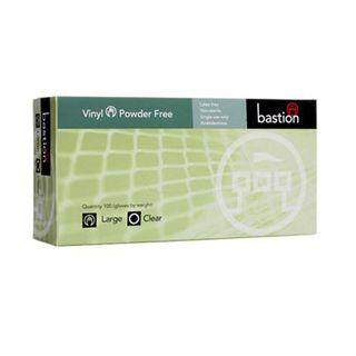Bastion Clear Vinyl POWDERFREE Gloves - LARGE