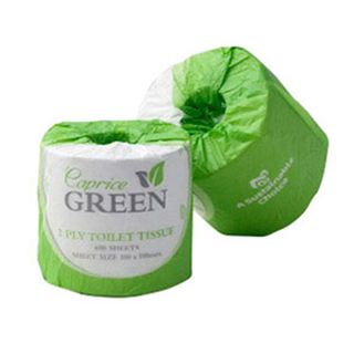 Caprice Green Toilet Rolls - Recycled 2Ply 700Sh (700C)
