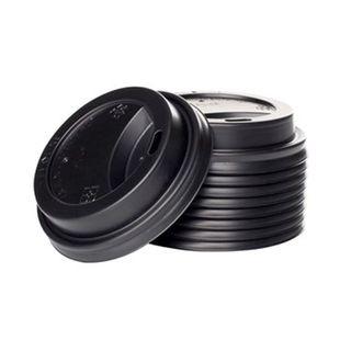 Enjoy Your Coffee 8oz Black Sipper Lids - 80mm