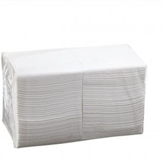 2 Ply Cocktail Napkins - White