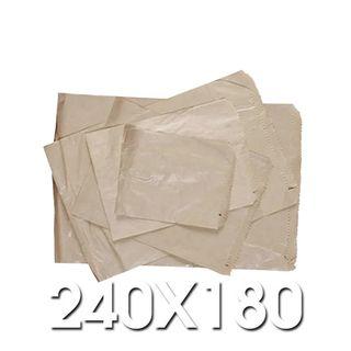 2 Long Brown Paper Bags 240 x 180