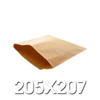 2 Square Brown Paper Bags 205 x 207