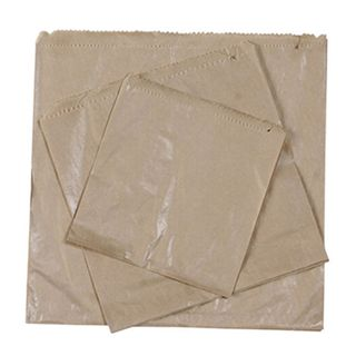 2 Square Brown Paper Bags 205 x 207