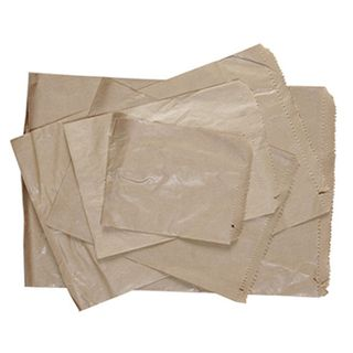 12 Long Brown Paper Bags - 50 GSM - 435mm x 290mm