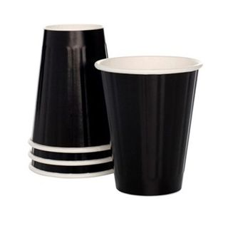 EYC 12oz GLOSS BLACK Insulated Coffee Cups
