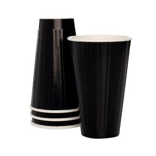 EYC 16oz GLOSS BLACK Insulated Coffee Cups