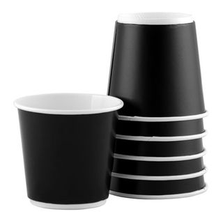 FATcup 8oz BLACK Retro Double Wall Hot Drink Cup