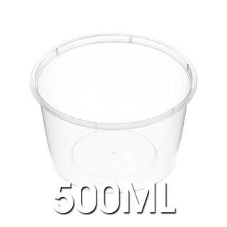 Genfac - C16 500ml Round Plastic Containers