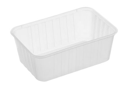 Genfac RIBBED - 1000ml Rectangle Containers